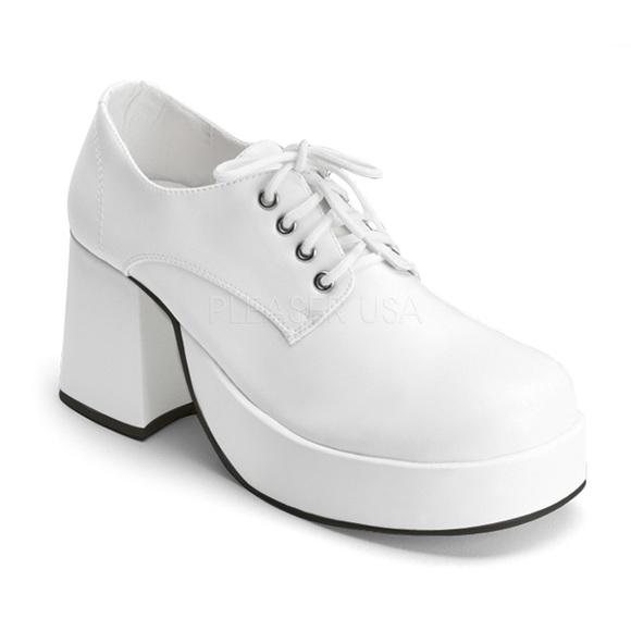 Mens White Funtasma Platform Shoes